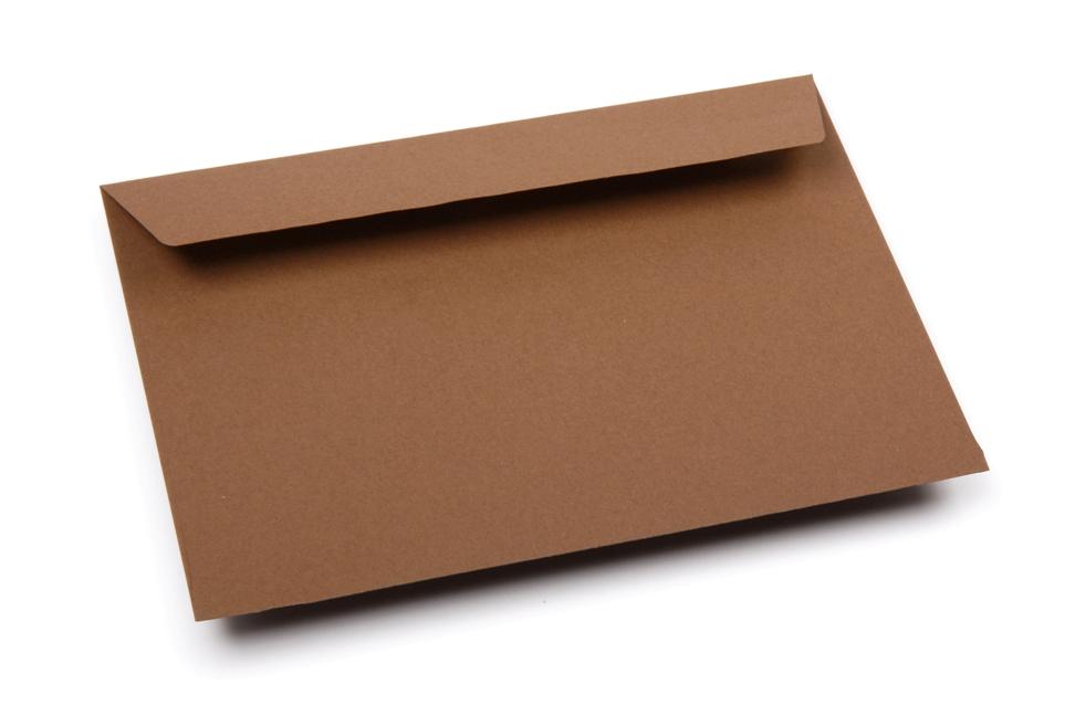 Gekleurde enveloppen papier - Bruin