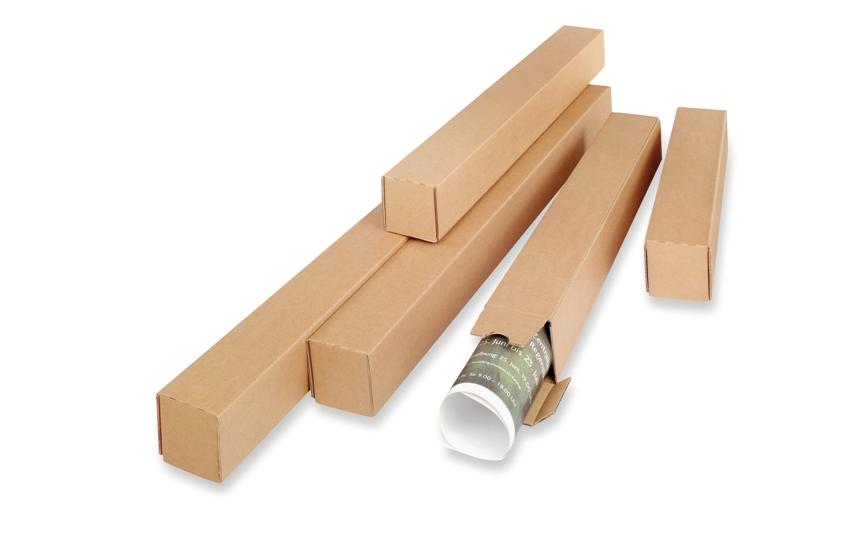 Vierkante verzendkokers - Bruin