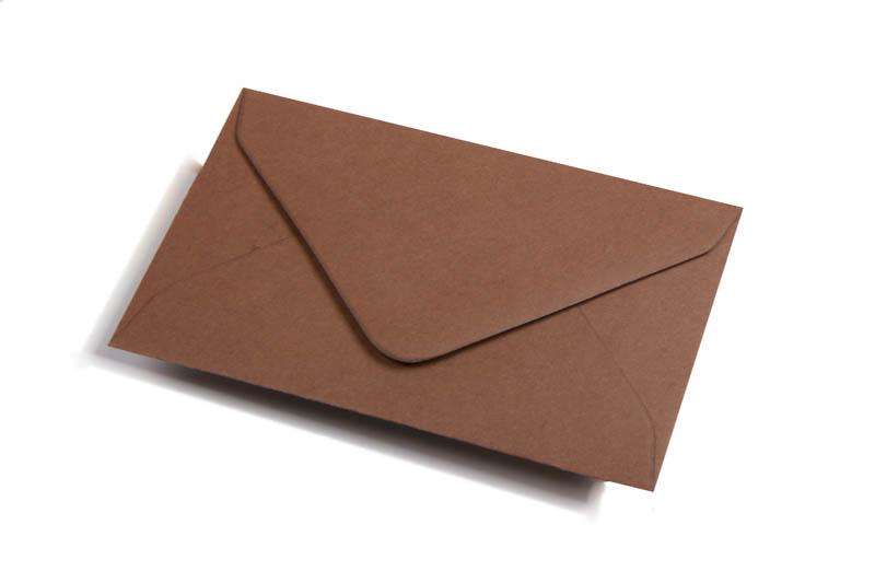 Visitekaart enveloppen gekleurd - Bruin