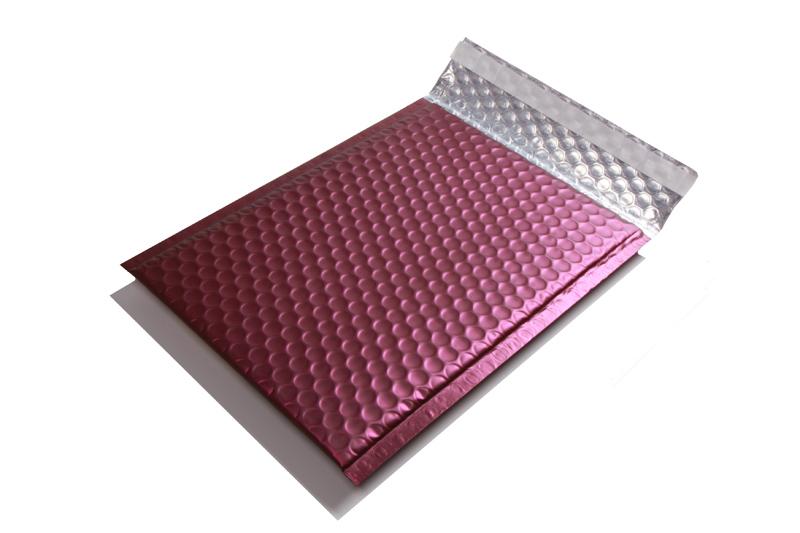 Luchtkussen enveloppen mat metallic - Paars
