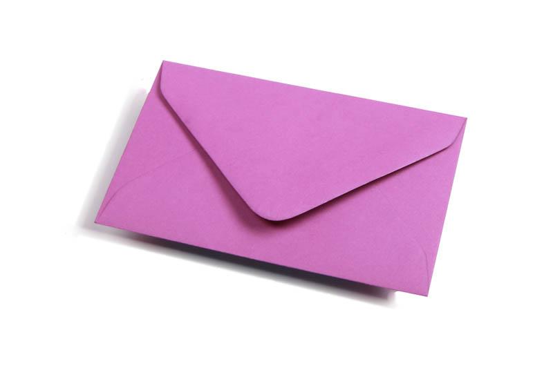 Visitekaart enveloppen - Paars