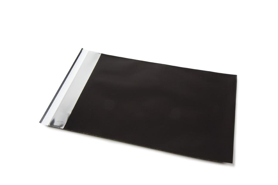 Folie enveloppen mat metallic - Zwart