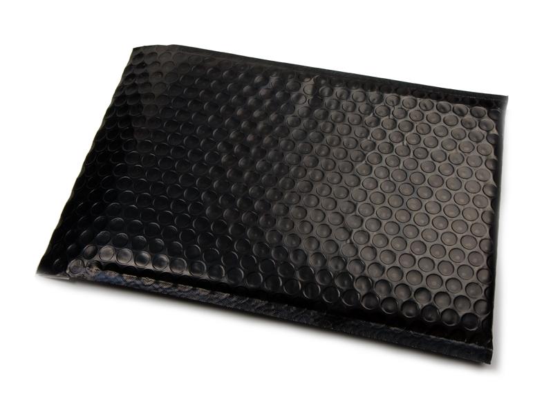 Luchtkussen enveloppen zijdeglans - Zwart