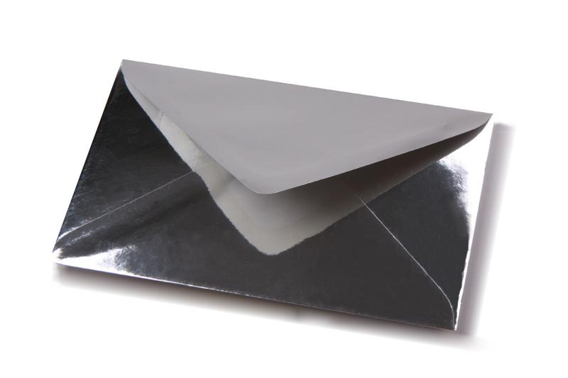 zilveren enveloppen