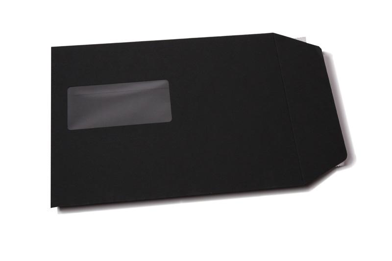 zwarte enveloppen