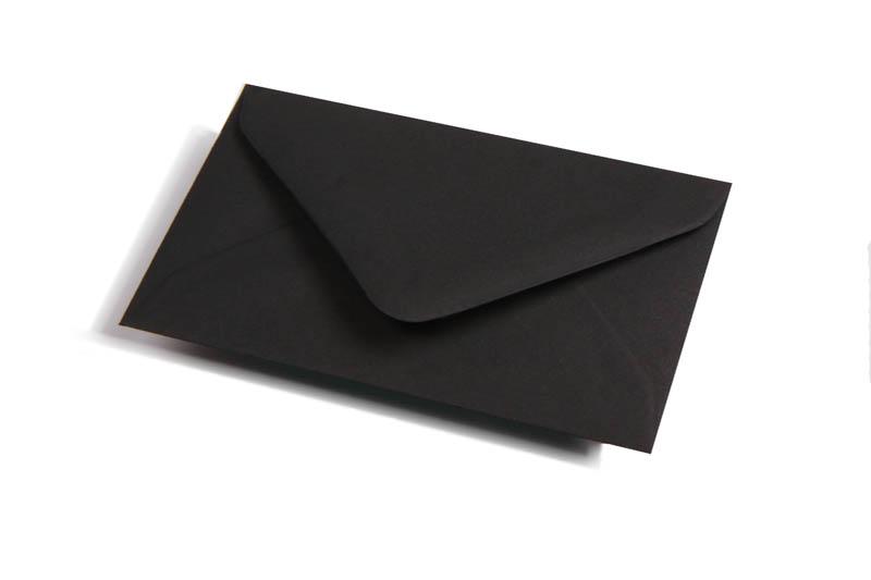 Visitekaart enveloppen - Zwart